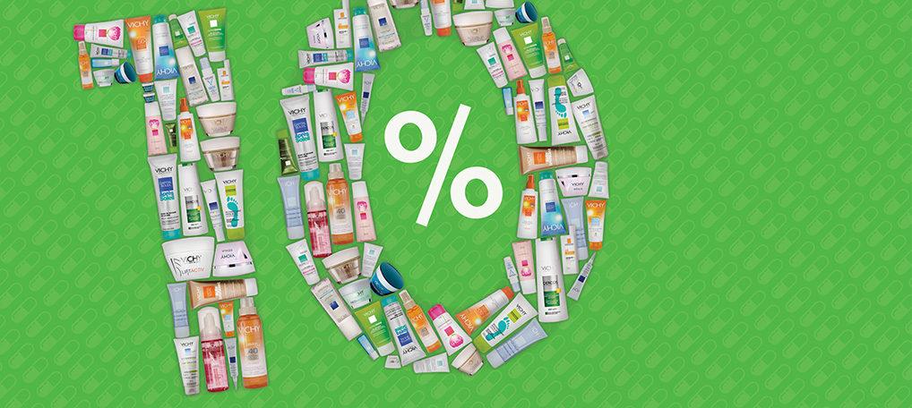 Alleen op zaterdag 10% korting op de gehele VICHY productenlijn!
