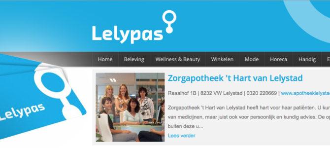 Nieuw! Sparen en betalen met de Lelypas!
